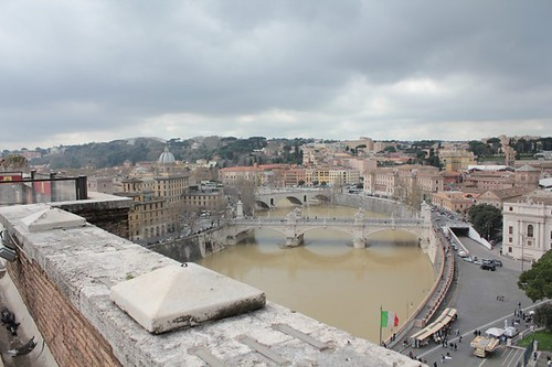 Castel Sant'Angelo: la vista su Roma
