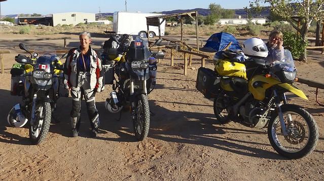breaking camp in Moab