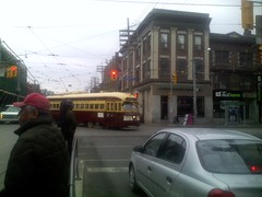 PCC streetcar at Queen West and Bathurst (3)