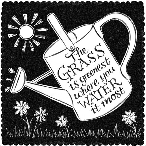 Random Doodle No.25 Green Grass