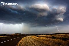 CG Lightning and Rotating Storm