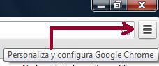 Acceso opciones Google Chrome