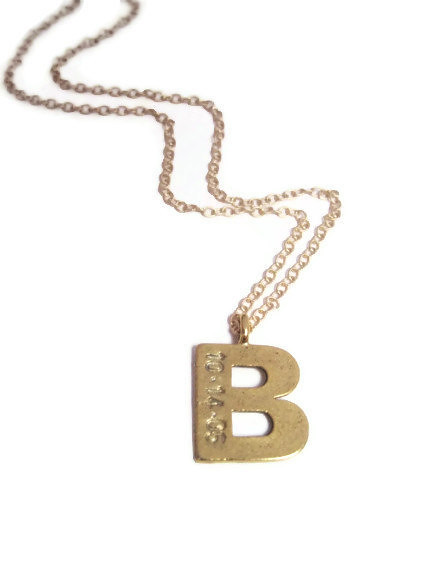 1 gold initial necklace