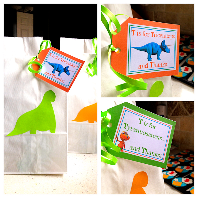 Dinosaur Train Party Printables - Thank you tags