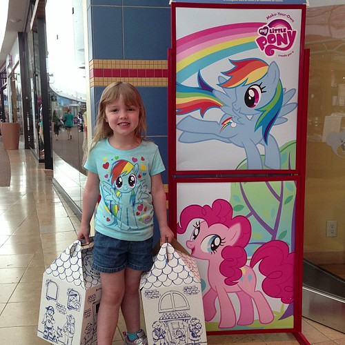 96:365 My Little Pony + Build A Bear = one very happy little girl!!