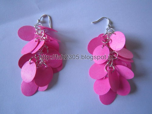 Handmade Jewelry - Paper Punch Earrings (Oval) (1) by fah2305