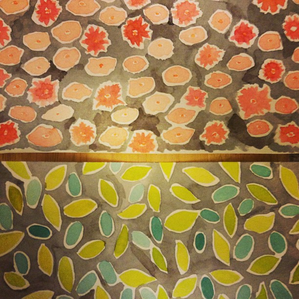 #wip #pattern for more book covers. I'm going to add more detail with colored pencil to the #flowers #leaves