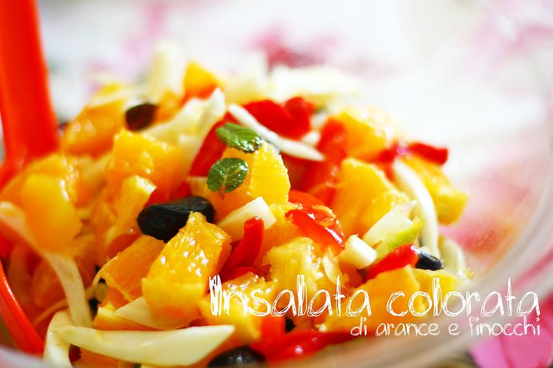 Insalata colorata di arance e finocchi