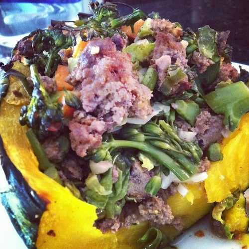 indian bison stuffed squash