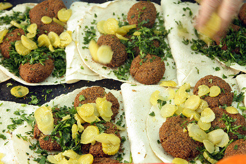 falafel and pickles