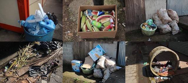El Rama Street trash