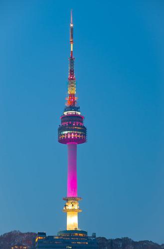 Namsan Tower from Hyatt Hill