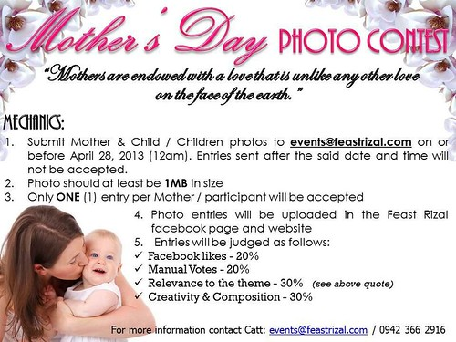 Feast Rizal Mother's Day poster