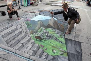 'Machu Picchu' 3d Streetpainting