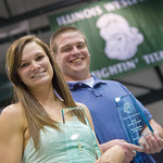13-0066 -- Tara Clemens '13, track, and Kevin Callahan '13, baseball, were named the female and male Athletes of the Year at the Tommy Awards.
