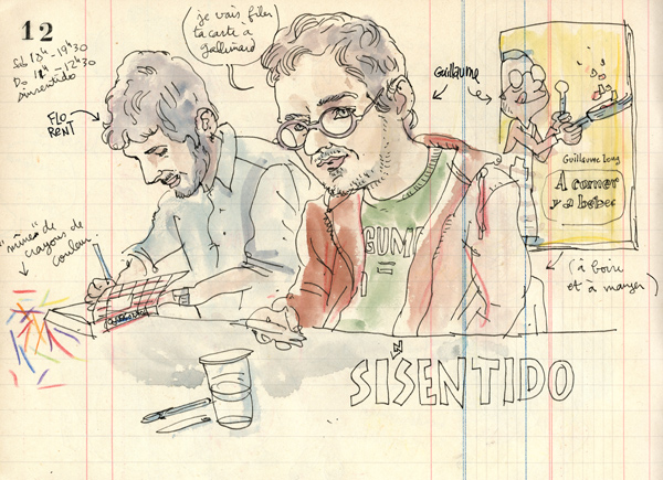 39th sketchcrawl at the comic book festival of barcelona