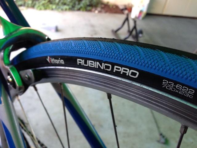 Installed Vittoria's Rubino Pro