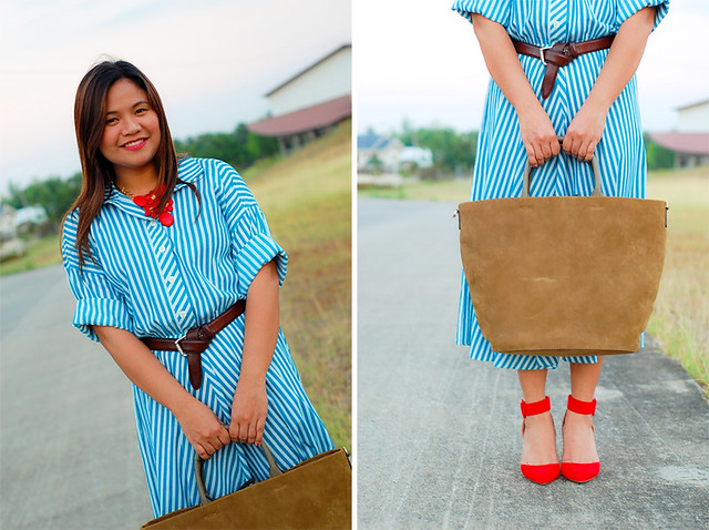 vintage inspired 60's dress, zara heels and bag