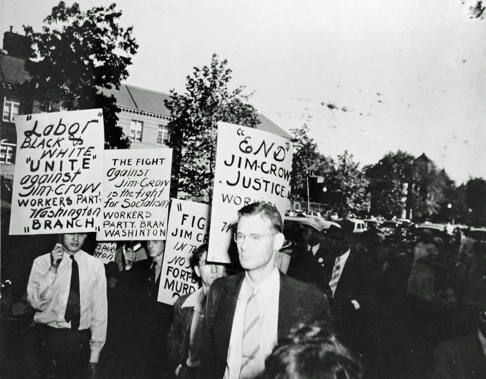 Workers' Party Lines Up to March Against DC Police Brutality: 1941