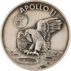 Lot 40078 Apollo 11 medallion obverse