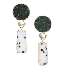 """Night, Snow, Moon"" Earrings"