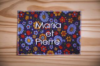 Un faire-part pour Maria et Pierre