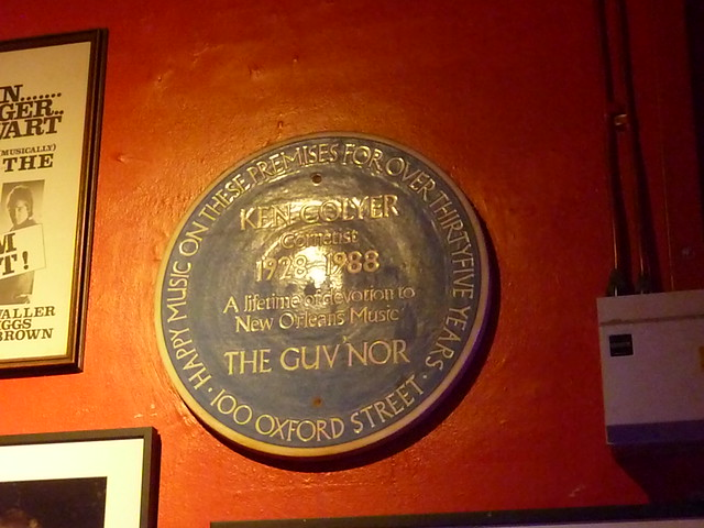 Ken Colyer blue plaque - Ken Colyer   Cornetist 1928-1988  A lifetime of devotion to New Orleans Music  GUV'NOR