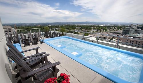 Sky spa terrace