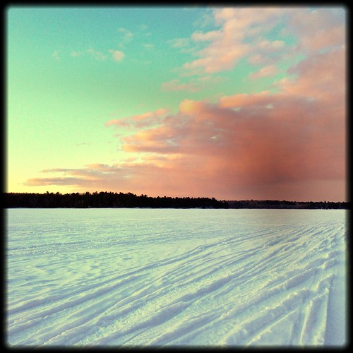 sunset cloud lake snow clouds salamanderfilter