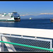Washington Ferry -Arriving Seattle from Bremerton, WA. by Contrails