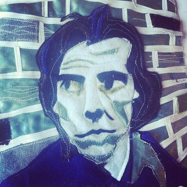 OK, why didn't school tell me sewing could be this fun? (that's MEANT to be Nick Cave, and I haven't gone totally random, I'm trying to win tix for a gig).