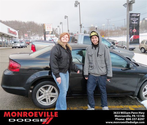 Congratulations to Kevin Sheridan on the 2012 Dodge Avenger by Monroeville Dodge