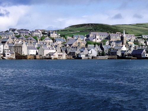 Orkney Islands Hoy, het haventje Stromness, Schotland 2005