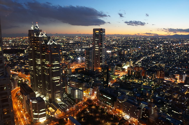 top viewing from Tokyo metropolitan government building.