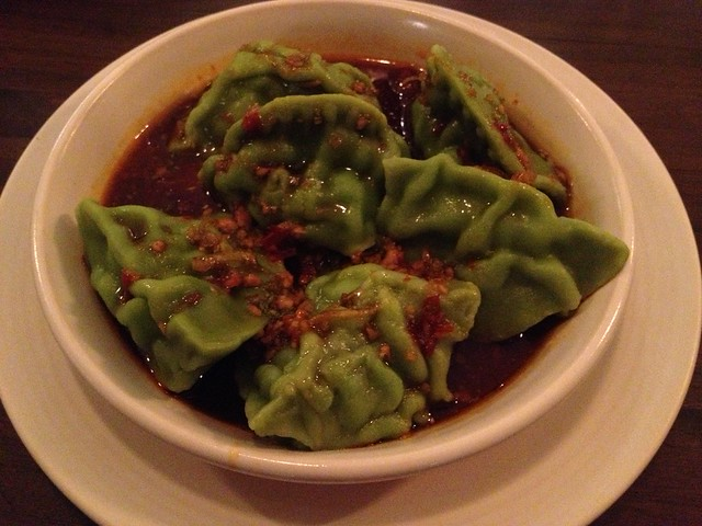 Spicy seafood dumplings - M.Y. China