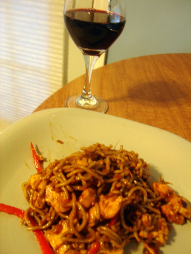 Yaki Soba & Red Wine