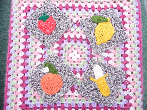 Morag (UK) Your Squares have arrived. Thank you! 'Fruit & Veg' Challenge.
