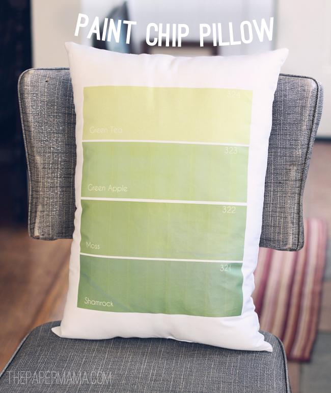 Paint Chip Pillow