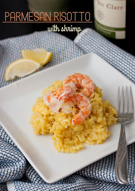 Parmesan Risotto with Shrimp