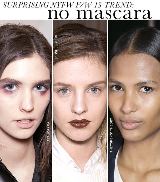 no mascara trend