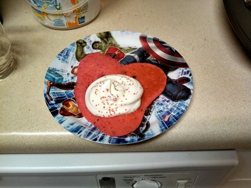 Heart Shaped Pancakes For Valentine's Day