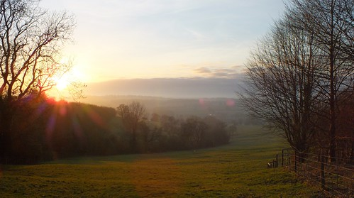 sunset autostitch panorama countryside cotswolds gloucestershire stowonthewold