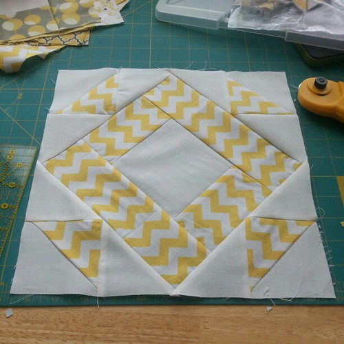 First block of Nikki and Paul's wedding quilt is done!