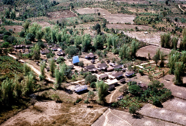 Montagnard village near Kontum 1971