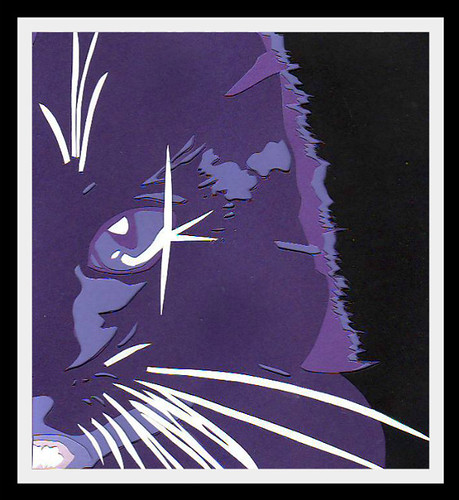 Purple Cat-(pop-art papercut) by bernie.levine (new year, new beginning)
