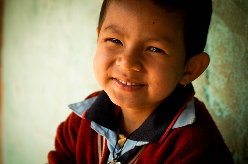 nepal boy smile asia child