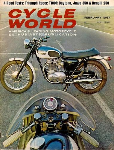 1967 Triumph 500 Daytona T100R by motosanglaises