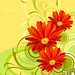 Free Red Vector Flowers by vectorbackgrounds