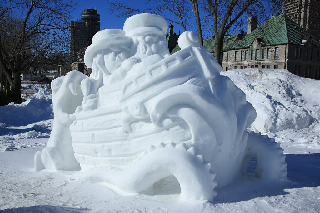 Quebec City Carnaval Snow Sculpture