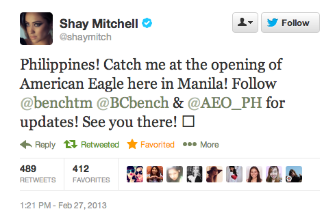 Shay Mitchell tweet